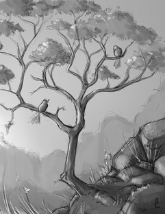 love-birds-tree-branches-sketch