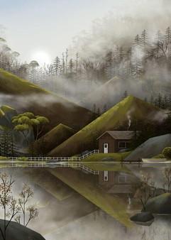 cottage-lakeside-fog-illustration