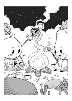 cute-characters-fire-illustration