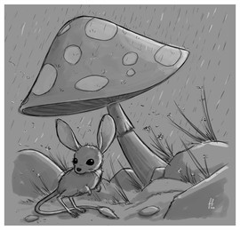 jerboa-mushroom-sketch-illustration