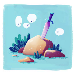 sword-rock-ghosts-zelda-illustration
