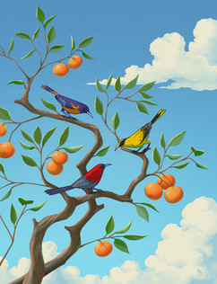 tree-branch-birds-sky-illustration
