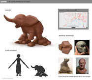 zafari-clay-elephant-prop-design