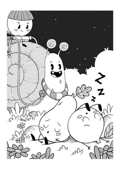 cute-characters-snail-illustration