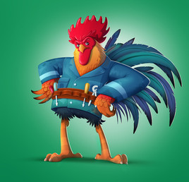 rooster-mechanic-character-design
