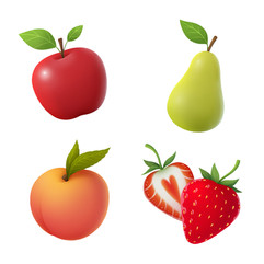 fruits-apple-pear-peach-illustration