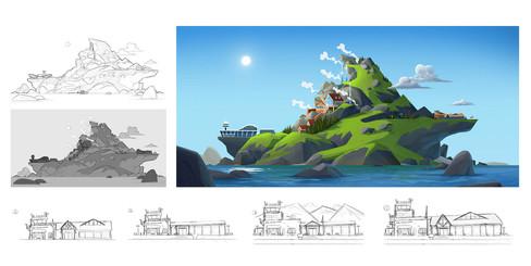 island-concept-environment-design