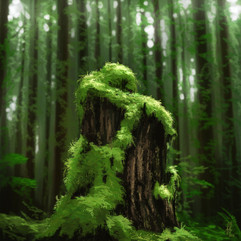 tree-stump-moss-painting-study