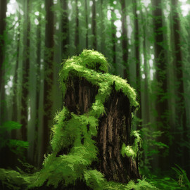tree-stump-moss-painting-study