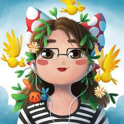 portrait-girl-birds-illustration