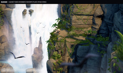 zafari-waterfall-environment-design