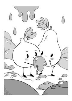cute-characters-mud-illustration
