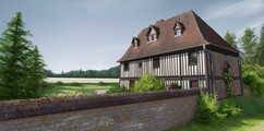 normandy-house-fields-study-painting