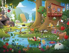 forest-food-kids-illustration