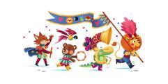 carnival-colorful-animal-illustration