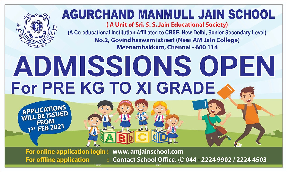 Apply Now to A.M Jain School - Admissions open.jpeg