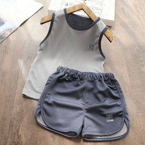 Sport Suit Female Tracksuit Sleeveless Clothes for 2 3 4 5 6 8 10 Years