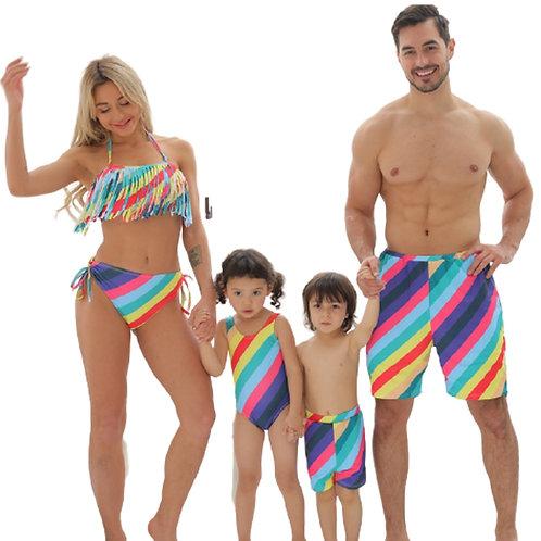 Rainbow  Family Matching Swimsuit