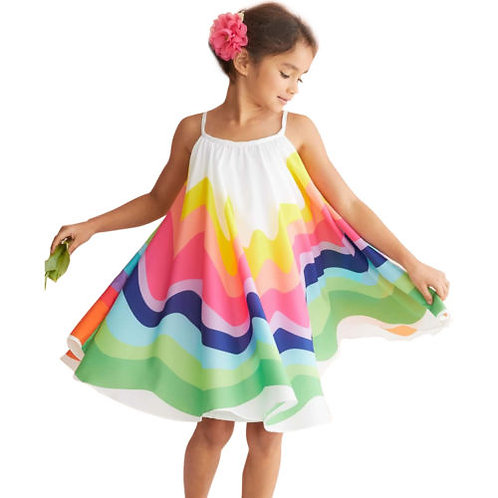 Kids Baby Girls Summer Rainbow Sling Dress Sleeveless Party Beach Dresses