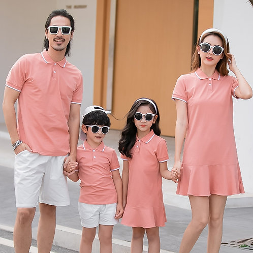 Summer Mother / Daughter Dresses /Father / Son T-Shirts Short Matching Outfits