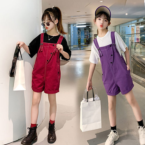 Teen Girls Dungarees Denim Overall Clothes for 5 6 8 10 12 13 14 Years