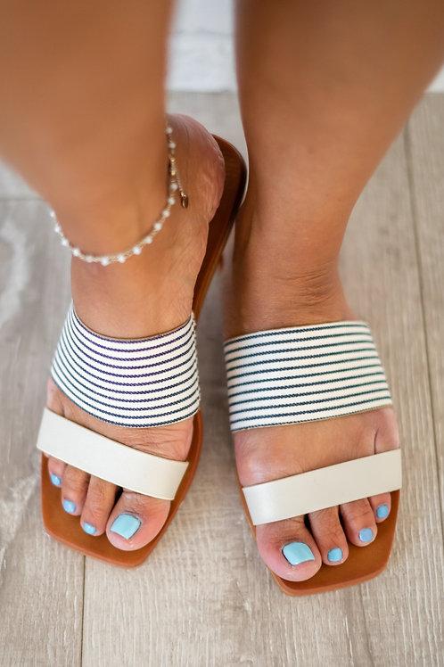 Soak Up the Sun Sandals- Ivory