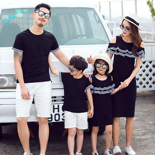 New Summer Matching Mother/  Daughter Dress / Son / Father Cotton T-Shirts