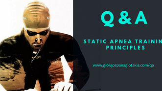 Q&A #4 - Static Apnea Training Principles