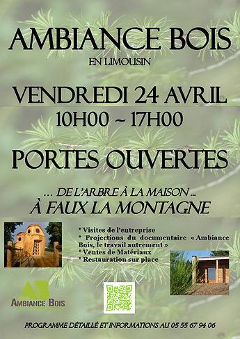 Ambiance Bois en Limousin portes ouvertes vendredi 24 avril 2015 faux la montagne visite d'entrepris