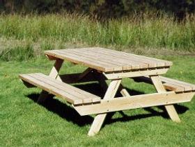 Table de jardin douglas hors aubier | Ambiance Bois en Limousin