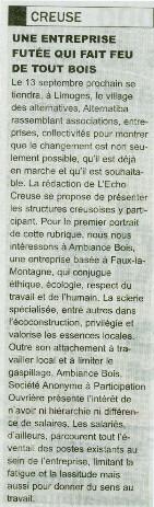 Ambiance Bois - Nouvelliste
