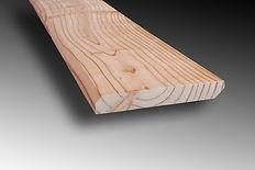 Profil plinthe mélèze 13x95mm Ambiance Bois en Limousin, parqueterie, scierie