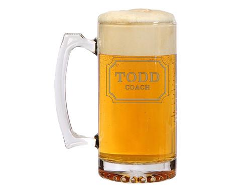 fame customizable etched beer mug monogram ga giftable custom gifts