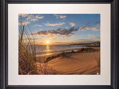 Black Framed Picture - 400 x 500mm - Golden Patterns