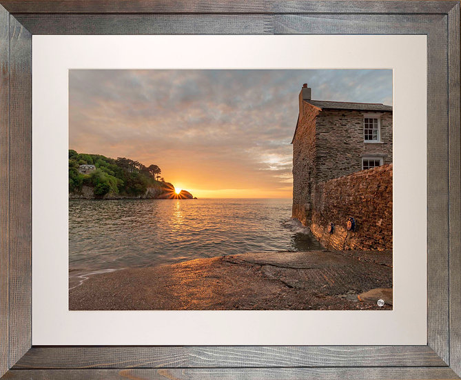 Rustic Wood Framed Picture - 400 x 500mm - Sunset Over Lee from Mill House