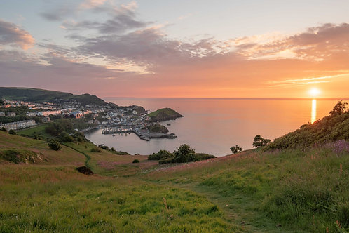 Summer Sunset Over Ilfracombe