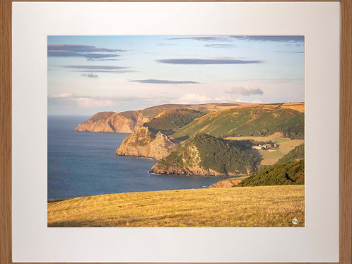 Wood Framed Picture - 400 x 500mm - Exmoor Coast View to Foreland