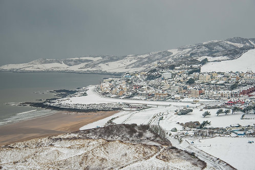 Snowy Springtime in Woolacombe