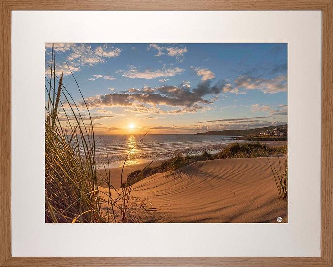 Wood Framed Picture - 400 x 500mm - Golden Patterns