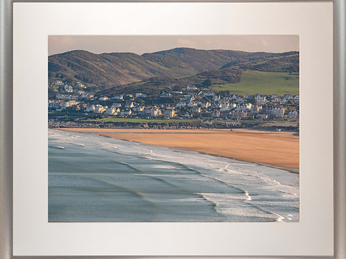 Silver Metallic Framed Picture - 400 x 500mm - Good Morning Woolacombe from BP