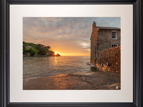 Black Framed Picture - 400 x 500mm - Sunset Over Lee from Mill House