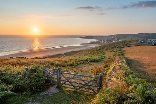 Golden Sunset from Woolacombe Down