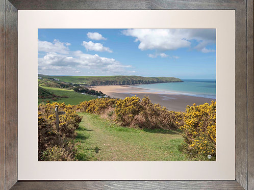 Rustic Wood Framed Picture - 400 x 500mm - Woolacombe Down Junction