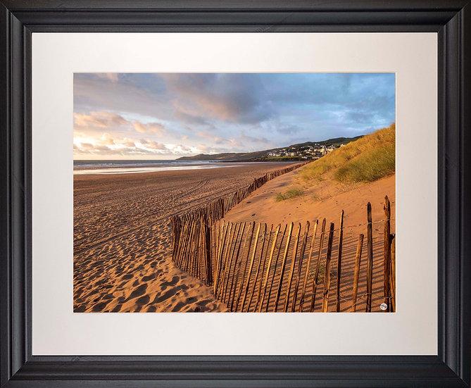 Black Framed Picture - 400 x 500mm - Golden Fence