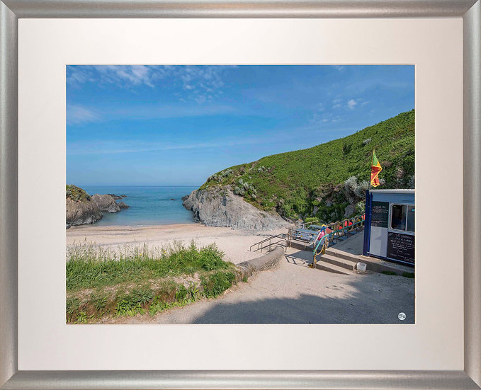 Silver Metallic Framed Picture - 400x500mm - Good Morning from Barricane Beach