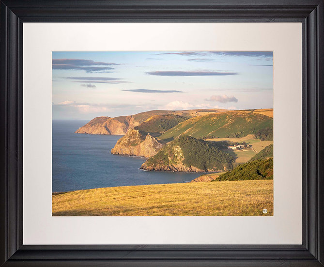 Black Framed Picture - 400 x 500mm - Exmoor Coast View to Foreland