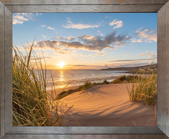 Rustic Wood Framed Picture (no mount) - 400 x 500mm - Golden Patterns
