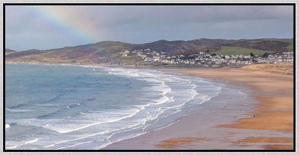 Woolacombe Rainbow Silver Frame.jpg