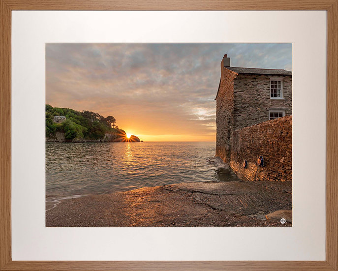 Wood Framed Picture - 400 x 500mm - Sunset Over Lee from Mill