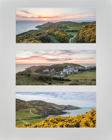Triple Mounted Picture - Mortehoe 1